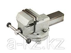 Тиски поворотные слесарные ЗУБР 32602-80, ЭКСПЕРТ, с поворотным основанием, 80 мм