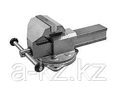 Тиски поворотные слесарные ЗУБР 32608-140, ЭКСПЕРТ, с поворотным основанием, 140 мм