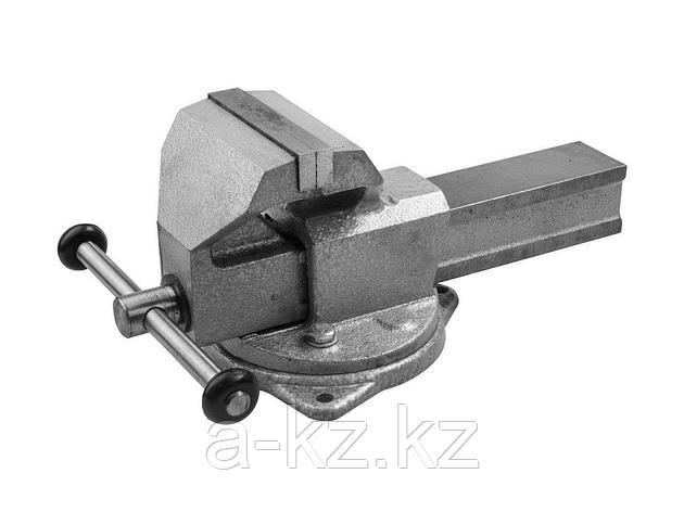 Тиски поворотные слесарные ЗУБР 32608-140, ЭКСПЕРТ, с поворотным основанием, 140 мм, фото 2