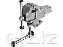 Тиски слесарные ЗУБР 32600-63, ЭКСПЕРТ, со струбциной, 63 мм