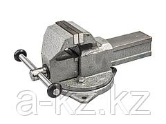 Тиски поворотные слесарные ЗУБР 32604-100, ЭКСПЕРТ, с поворотным основанием, 100 мм