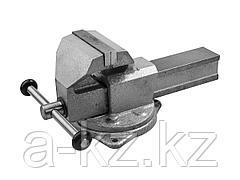Тиски поворотные слесарные ЗУБР 32606-125, ЭКСПЕРТ, с поворотным основанием, 125 мм
