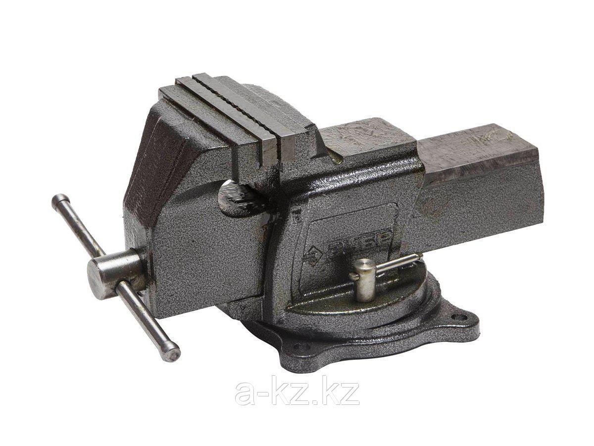 Тиски поворотные слесарные ЗУБР 32703-150, ЭКСПЕРТ, индустриальные, 150 мм