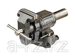 Тиски поворотные слесарные ЗУБР 32712-100, ЭКСПЕРТ, многофункциональные с поворотом в двух плоскостях, 100 мм