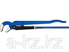 Ключ трубный газовый № 2, ЗУБР 27336-2_z01, ПРОФЕССИОНАЛ, тип S, рычажный, изогнутые губки для труднодоступных мест, цельнокованый, Сr-V