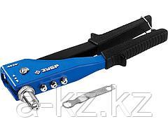 Заклепочник ручной ЗУБР 31194, МАСТЕР поворотный 90-180 градусов, усиленный для алюминиевых заклепок, 2,4-3,2-4-4,8мм