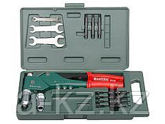 Заклепочник ручной KRAFTOOL 31178, INDUSTRIE, литой усиленный поворотный для вытяжных и резьб. заклепок, штифтов, 2,4-3,2-4-4,8мм