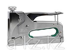 Степлер мебельный строительный STAYER 31510, PROFI, комбинированный для скоб и гвоздей, 4-в-1