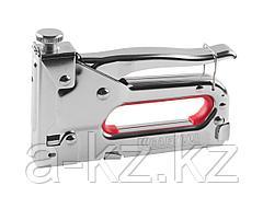 Степлер мебельный строительный KRAFTOOL 3187, EXPERT, регулировка силы удара, тип скобы 53 (красная): 6-14мм.
