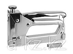 Степлер мебельный строительный STAYER 3150_z01, MASTER, металлический регулируемый, тип 53, 4-14мм