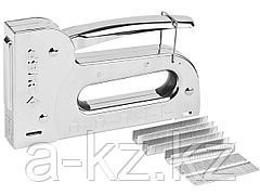 Степлер мебельный строительный ЗУБР 31527, ПРОФИ, пластинчатая пружина, 5-в-1