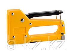 Степлер мебельный строительный STAYER 3140_z01, STANDARD, пластмассовый, тип 53, 4-8мм