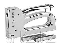 Степлер мебельный строительный ЗУБР 31525, ПРОФИ, пластинчатая пружина, 3-в-1, Тип 53 (6-10мм), Тип 13 (6-10мм), Тип 140 (6-10мм)