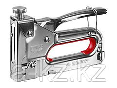 Степлер мебельный строительный ЗУБР 31563_z01, МАСТЕР, металл пружинный, регулируемый, тип 53, 4-14мм