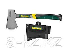 Топорик туристический KRAFTOOL PRO цельнокованый с трехкомпонентной рукояткой, в чехле, 0,6 кг, 20645-06