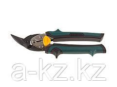 Ножницы по металлу ручные KRAFTOOL 2326-L, UNI-KRAFT, с двойной рычажной передачей, Cr-Mo, двухкомпонентная ручка, левые, 180 мм