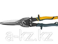 Ножницы по металлу ручные KRAFTOOL 2328-SL, Alligator 290мм, прямые удлинён, прямой проходн рез,Cr-MO,холоднокат сталь-1,2 мм, нерж сталь-0,8 мм