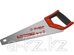 Ножовка специальная (пила) ЗУБР МОЛНИЯ-Тулбокс 350 мм, 11 TPI, прямой зуб, точный рез, импульсная закалка каждого зуба
