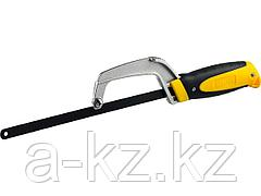 Ножовка-ручка по металлу STAYER, трехкомпонентная рукоятка, металлическая державка, 300мм