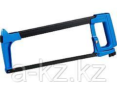 Ножовка по металлу СИБИН 15783, рычажное натяжение, металлическая рукоятка, цельнометаллическая конструкция, 300 мм
