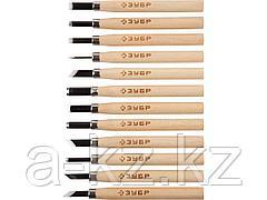 Резцы по дереву фигурные набор ЗУБР 18375-H12, ЭКСПЕРТ, профессиональные, 12 шт.