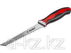 Ножовка по гипсокартону ЗУБР 15178_z01, МАСТЕР, двустороннее полотно, 2-компонентная ручка, 150 мм