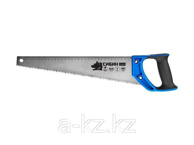 Ножовка по дереву СИБИН 15055-50, 500 мм, шаг 4 TPI (6 мм), фото 2