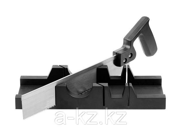 Стусло набор DEXX 1538-30, пластмассовое, пила для стусла, для заготовок до 65 х 35 мм, ножовка 300 мм, фото 2