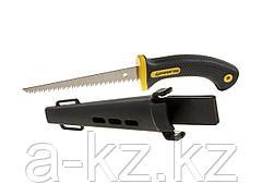 Ножовка по гипсокартону STAYER 2-15170, PROFI по гипсокартона, 3D-заточка, 2-компонентная ручка, 8 TPI,  чехол, 3.0 х 150 мм