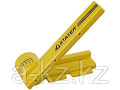 Стусло поворотное STAYER 15402, PROFI, с магнитной направляющей, ударопрочной ABS - пластик, неограниченный размер заготовки, угол реза от 15 до 180