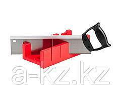Стусло набор ЗУБР 15391-30, МАСТЕР, пластмассовое, ножовка с пластиковой рукояткой с усиленным обушком, стусло MIDI-PLUS, 2,5, ножовка 295 мм