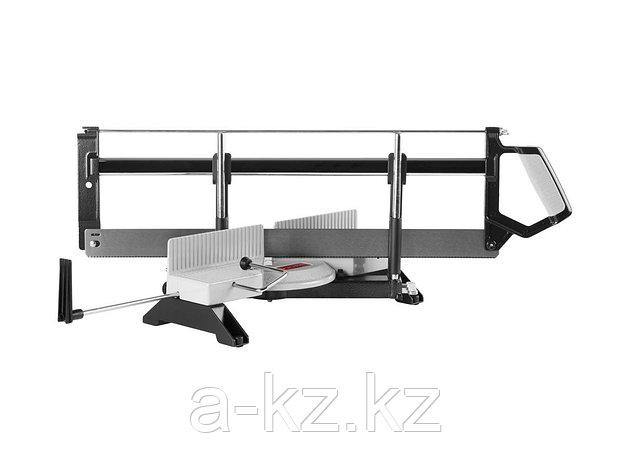 Стусло поворотное с пилой ЗУБР 15442, ЭКСПЕРТ, металлическое, основание-алюминий, 560 мм, фото 2