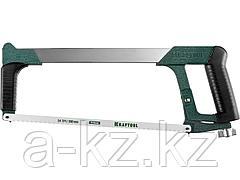 Ножовка по металлу KRAFTOOL 15801_z01, PRO, биметаллическое полотно, рычажное натяжение, обрезиненная рукоятка, 300 мм