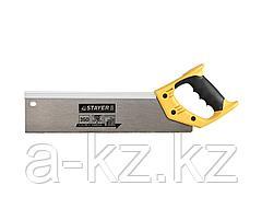 Ножовка по дереву для стусла STAYER 15365-35, MASTER, двухкомпонентная рукоятка, усиленный обушок, закаленный заточенный зуб 12 TPI, 350 мм