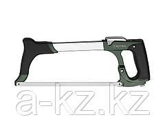 Ножовка по металлу KRAFTOOL 15802_z01, PRO, биметаллическое полотно, быстрое рычажное натяжение, особо высокое натяжение полотна, обрезиненная