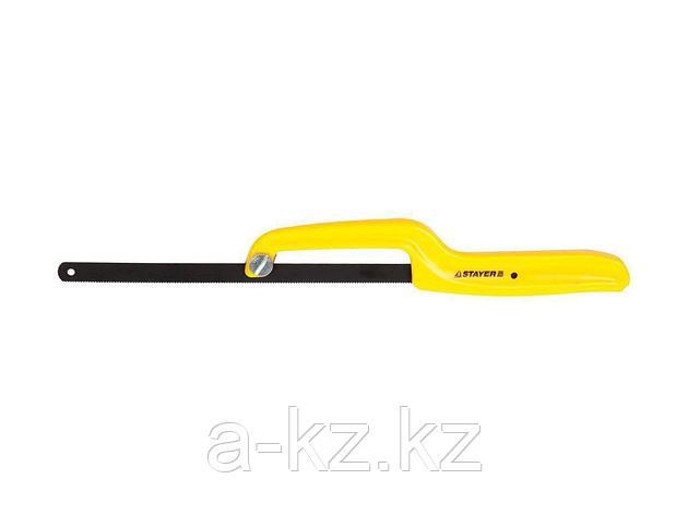 Ножовка ручка по металлу STAYER 1571_z01, MASTER, пластмассовая, усиленная, с полотном, 300 мм, фото 2