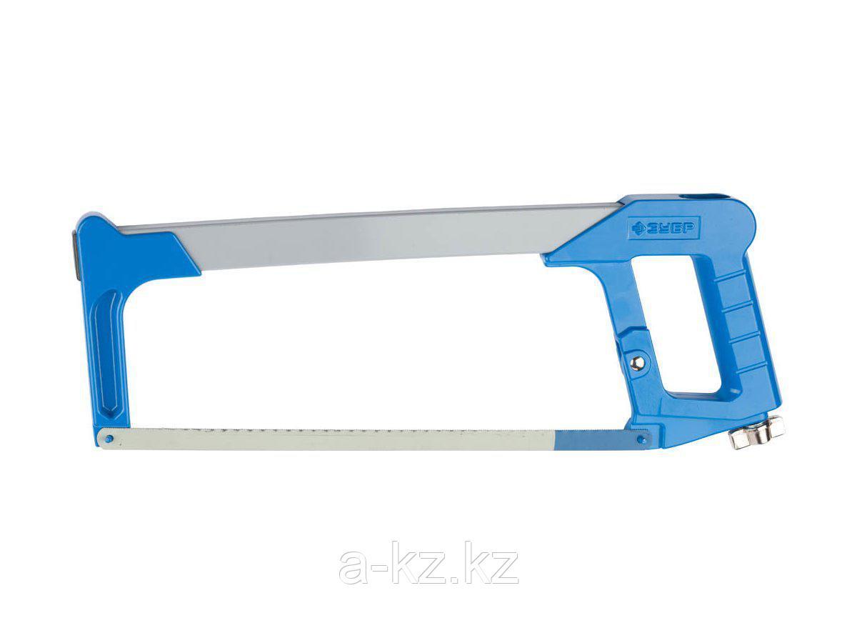 Ножовка по металлу ЗУБР 1578_z01, ЭКСПЕРТ, металлическая рукоятка, биметаллическое полотно, натяжение 170 кг, 300 мм