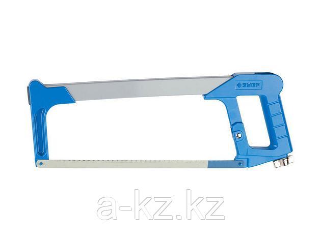 Ножовка по металлу ЗУБР 1578_z01, ЭКСПЕРТ, металлическая рукоятка, биметаллическое полотно, натяжение 170 кг, 300 мм, фото 2