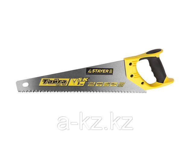 Ножовка по дереву STAYER 15050-40_z01, MASTER ТАЙГА, пластиковая ручка, прямой крупный зуб, 5 TPI (5 мм), 400 мм, фото 2