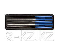 Надфиль алмазный набор ЗУБР 33388-160-H5, ЭКСПЕРТ, с алмазным напылением в пластиковом боксе, P 140, 160х80 мм, 5 предметов