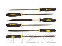 Набор STAYER PROFI Надфили с двухкомпонентной ручкой, 100мм, 6шт, 16010-H6_z01
