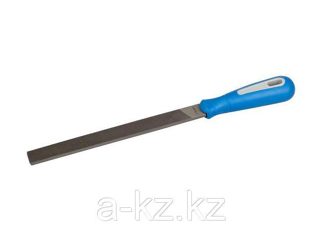 Напильник плоский ЗУБР 1611-20-2, ЭКСПЕРТ, двухкомпонентная рукоятка, № 2, 200 мм, фото 2