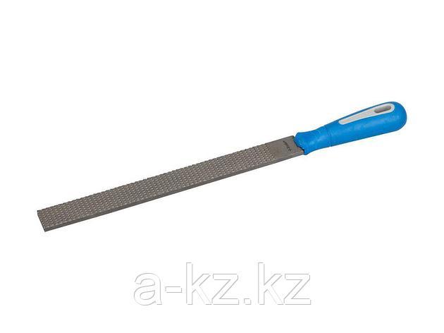 Рашпиль ЗУБР ЭКСПЕРТ плоский, двухкомпонентная рукоятка, №2, 250мм, 16641-25-2, фото 2