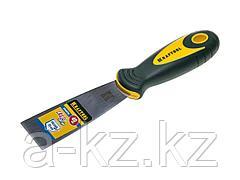 Шпатель строительный металлический KRAFTOOL 10035-040, с 2-компонент ручк, нержавеющее полотно, 40мм