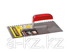 Гладилка STAYER MASTER стальная с деревянной ручкой, зубчатая, 6х6мм, 0801-06