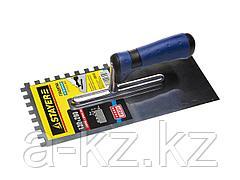 Гладилка STAYER PROFI нержавеющая, зубчатая, 2-хкомп.ручка, 4х4мм, 0805-04