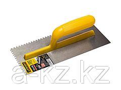 Гладилка STAYER MASTER стальная с пластмассовой ручкой, зубчатая, 4х4мм, 120х280мм, 08012-04