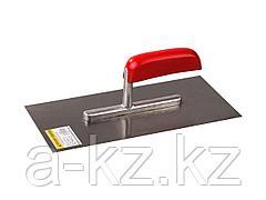 Гладилка STAYER MASTER стальная с деревянной ручкой, 130х280мм, 0801