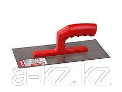 Гладилка ЗУБР стальная с пластмассовой ручкой, 130х280мм, 08042