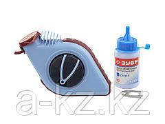 Нить ЗУБР разметочная для строительных работ в наборе с синей краской, 30м, 4-06375-H2
